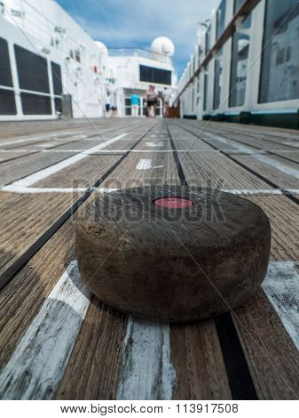 Shuffleboard on board