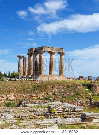 Temple of Apollo, Ancient Corinth, Greece