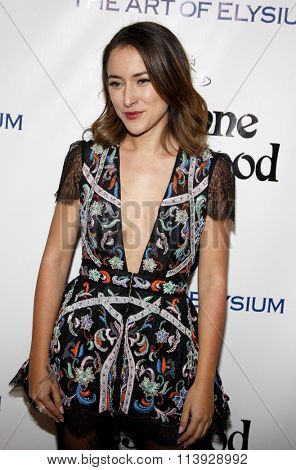 Zelda Williams at the Art Of Elysium's 9th Annual Heaven Gala held at the 3LABS in Culver City, USA on January 9, 2016.
