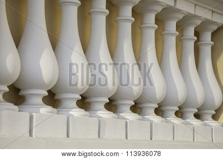 rhythmic series of balusters, architectural decoration