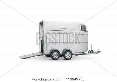 Horse Trailer Isolated