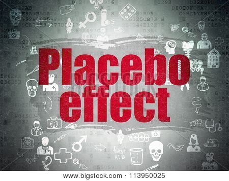 Health concept: Placebo Effect on Digital Paper background