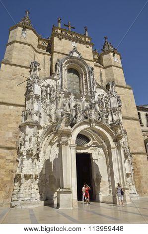 Facade Of Igreja Church In Coimbra