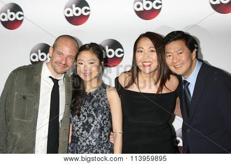 LOS ANGELES - JAN 9:  Jonathan Slavin, Krista Marie Yu, Suzy Nakamura, Ken Jeong at the Disney ABC TV 2016 TCA Party at the The Langham Huntington Hotel on January 9, 2016 in Pasadena, CA
