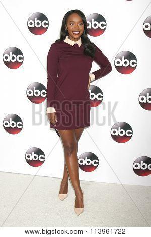 LOS ANGELES - JAN 9:  Aja Naomi King at the Disney ABC TV 2016 TCA Party at the The Langham Huntington Hotel on January 9, 2016 in Pasadena, CA
