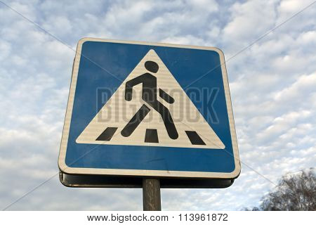 Metal Pedestrian Sign.