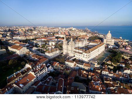 Aerial View of Alfama, Lisbon, Portugal