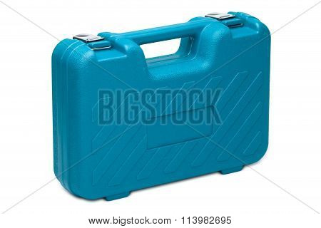 Blue Toolbox Isolated O? White