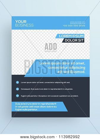 Professional One Page, Business Flyer, Banner, Pamphlet or Brochure with space for your image.