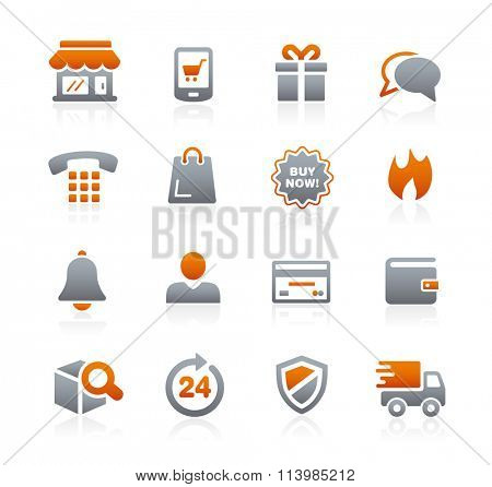 E-Shopping Icons // Graphite Series