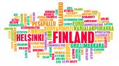 Finland as a Country Abstract Art Concept poster