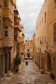 Street in an old European town (Valletta Malta) poster