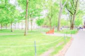 Defocused background of a typical university campus. Intentionally blurred post production for bokeh effect poster