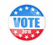 vote election badge button for 2016 3d Illustrations poster