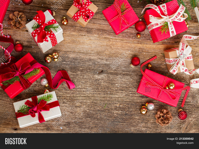 Christmas Gift Giving.Christmas Gift Giving Image Photo Free Trial Bigstock