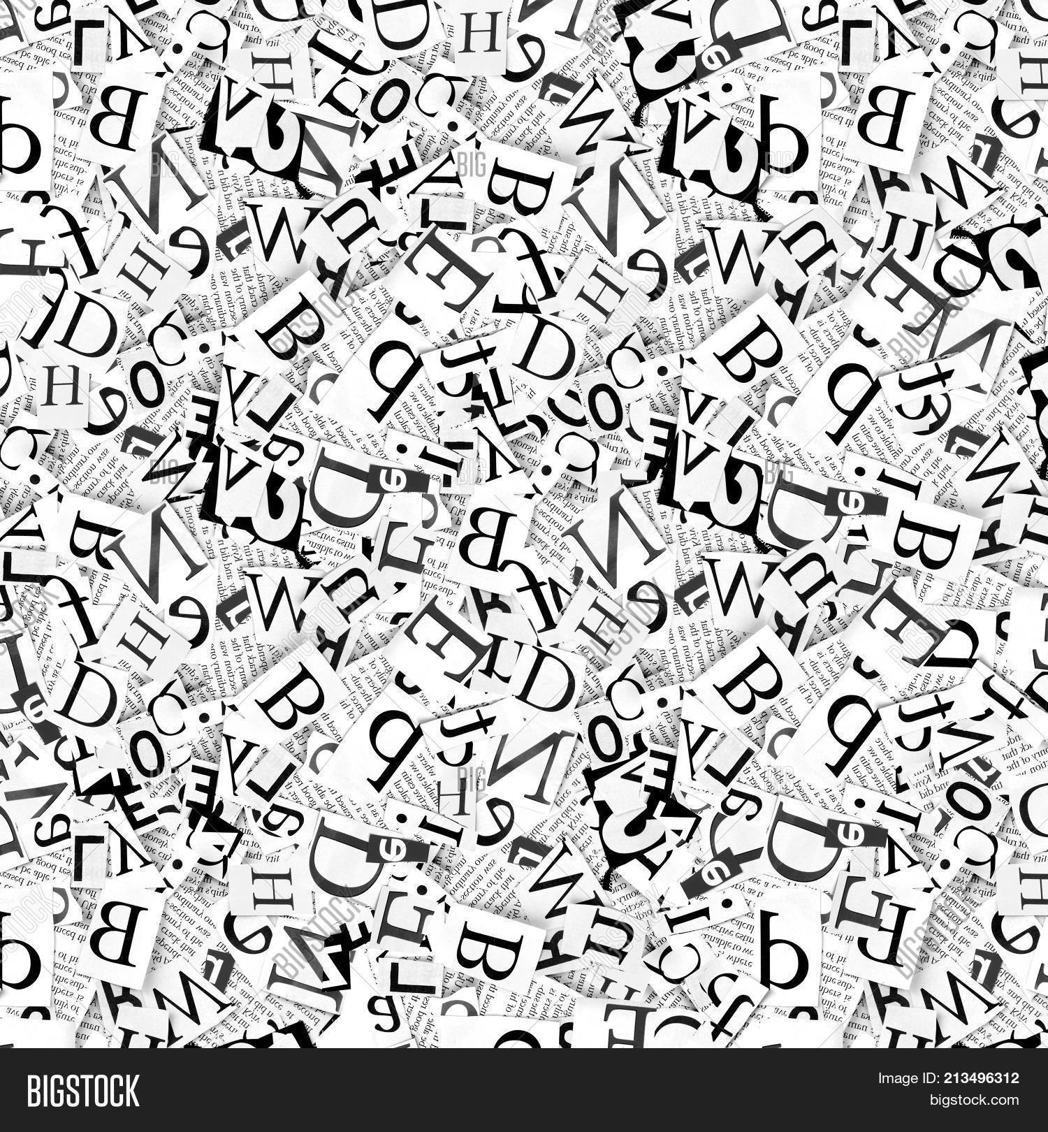 Words Letters Cut Image Photo Free Trial Bigstock