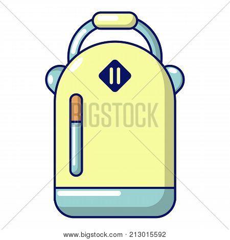 Backpack schoolgirl icon. Cartoon illustration of backpack schoolgirl vector icon for web