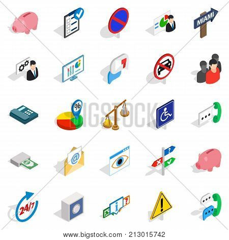 Comfy icons set. Isometric set of 25 comfy vector icons for web isolated on white background