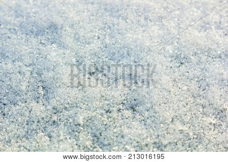 Blurred ice snow white background. Abstract snow background