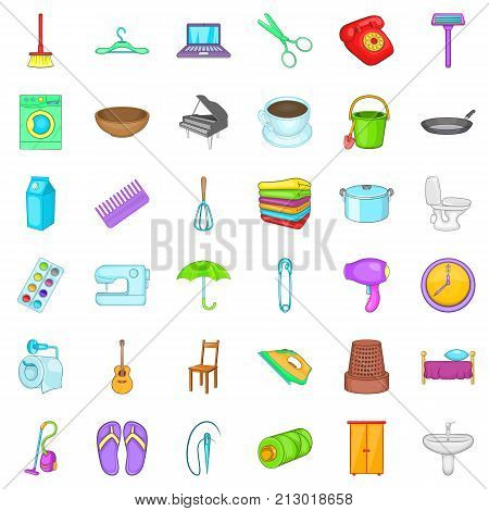 Whisk icons set. Cartoon style of 36 whisk vector icons for web isolated on white background