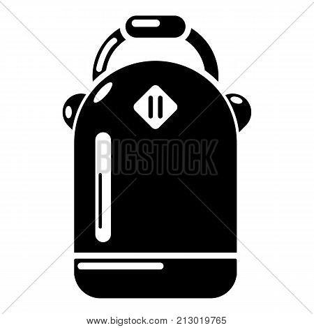 Backpack schoolgirl icon. Simple illustration of backpack schoolgirl vector icon for web