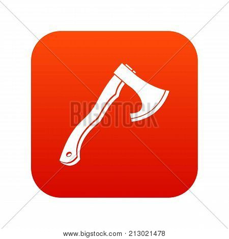 Hatchet icon digital red for any design isolated on white vector illustration