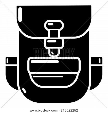 Backpack education icon. Simple illustration of backpack education vector icon for web