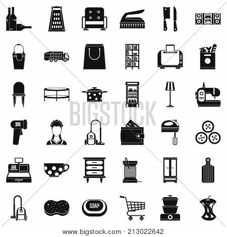Cleaner icons set. Simple style of 36 cleaner vector icons for web isolated on white background