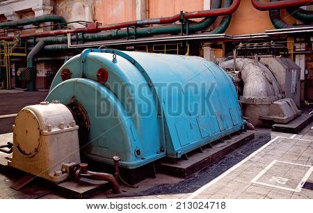 Turbo generators in old thermal power plant