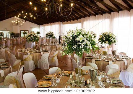 Indoors Wedding Reception Venue With Decor