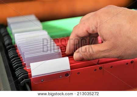 An concept Image of a colorful Register binder with copy space