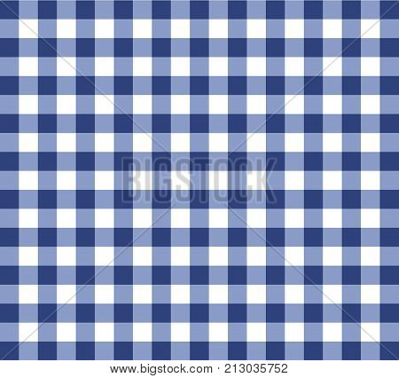 Vector Checked Tablecloth Background Illustration Vintage Style