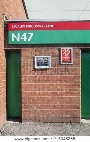 MANCHESTER, UK - JUNE 19, 2013 - Sir Alex Ferguson Stand, Old Trafford, Manchester