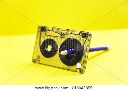 Audio Cassette And A Pencil