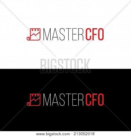 Accounting service logo template. Financial companny emblem