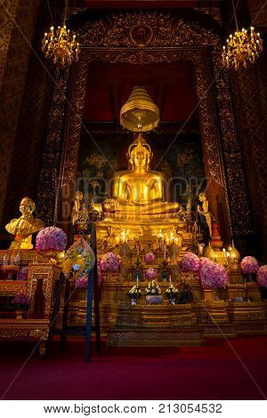BANGKOK THAILAND - NOVEMBER 9 2017: The Royal relics and ashes of the His Majesty late King Bhumibol