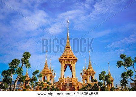 Bangkok, Thailand - November 9 2017: The Royal Crematorium Of His Majesty Late King Bhumibol Adulyad