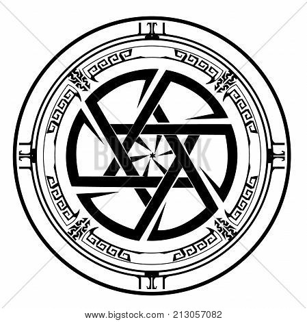 icon star of David , Shield of David , Magen David , vector illustration