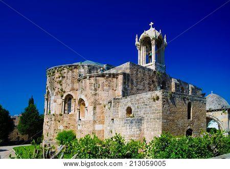 The Crusades-era Church of St. John-Mark in Byblos at Lebanon