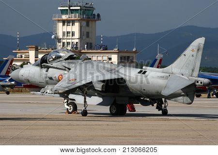 Spanish Navy Av-8B Harrier Jump Jet