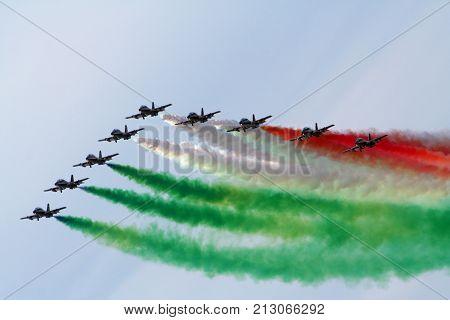Italian Aerobatic Demonstration Team Frecce Tricolori