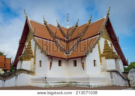 Outside of Wat Phumin (Public temple) at Nan province Thailand in the morning