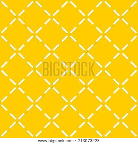 Tile yellow vector pattern with quilted background