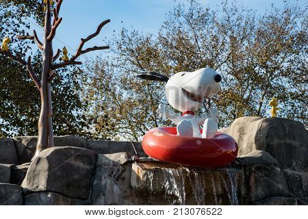 ALLENTOWN, PA - OCTOBER 22: View of Planet Snoopy at Dorney Park in Allentown, Pennsylvania