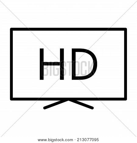 Hd television line icon. TV, video symbol. 96x96 for Web Graphics and Apps.  Simple Minimal Pictogram. Vector