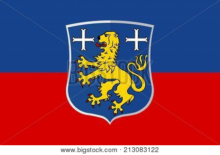 Flag of Friesland is a district in Lower Saxony Germany. Vector illustration