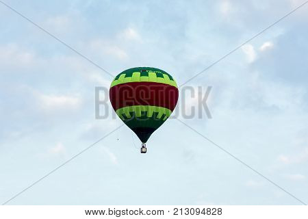 Belarus Minsk - 2017.09.17: Balloon in flight on the celebration of aeronautics