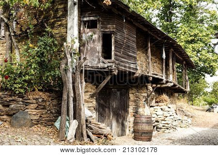 Rio de Onor is a village in northern Portugal with traditional houses on two levels being the upper level for the family and the lower level for animals cereals and other products of the land