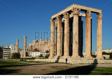 The Temple Of Olympian Zeus In Athens