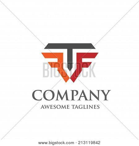 Creative Letter T and F logo, Elegant alphabet F and T letter logo.,Vector illustration